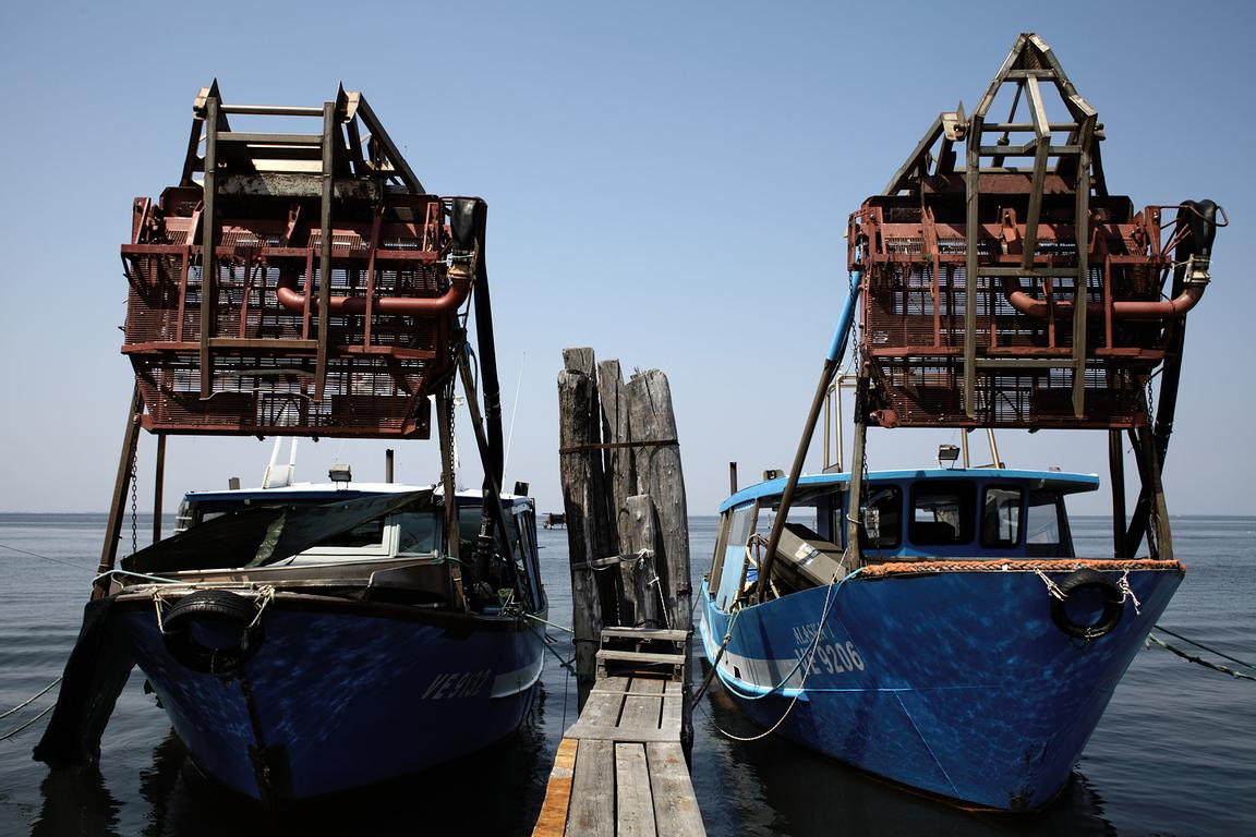 Fishermen's boats at Pellestrina (Lido)