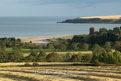 Image - Red Castle and Lunan Bay, Angus, Scotland