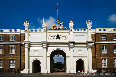 Open House Weekend London: Open House Weekend London: Royal Artillery Barracks, Woolwich. South Arch in the facade - the long...