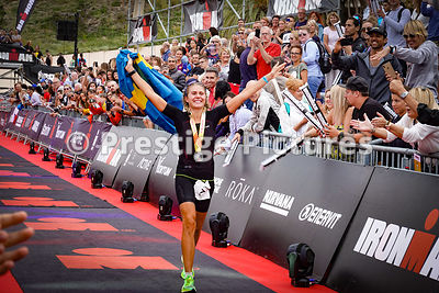 Sara Svensk embraces a relative after finshing in 1st position for women athletes