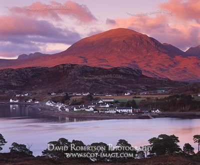 Image - Shieldaig village, Wester Ross, Scotland. Sunset