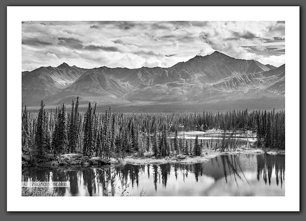 Edith Peak from the Alaska Highway, Yukon Canada,
