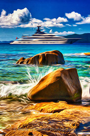 airbrush, art, frame, images, kismet, lurssen, painting, photos, poster, Superyacht