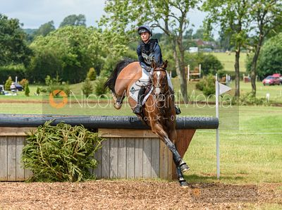 Dani Evans and C BORN FRESH Z - Aston Le Walls Horse Trials 2019.