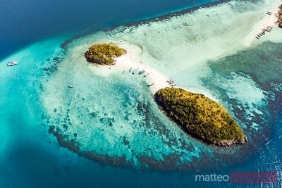 Aerial view of Tup island, Krabi province, Thailand