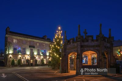 KIRKBY LONSDALE 14B - Market Square at Christmas