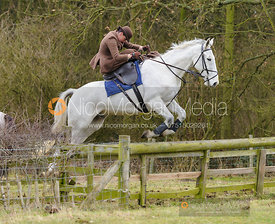 Jumping a fence. The Quorn Hunt at Baggrave Hall 10/1