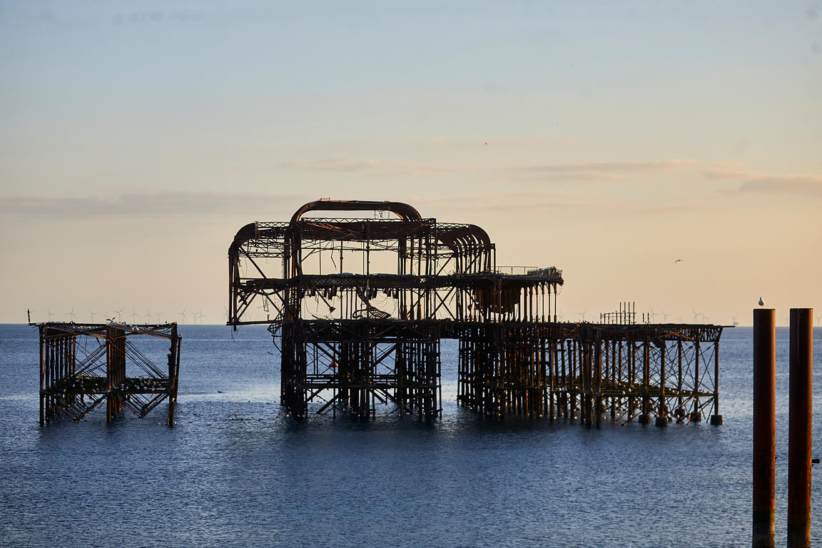 West Pier remains