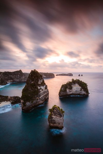 Thousand islands at dawn, Nusa Penida, Bali