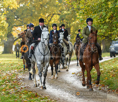 George Kennedy, Holly Campbell arriving at the meet - Fitzwilliam Hunt Opening Meet