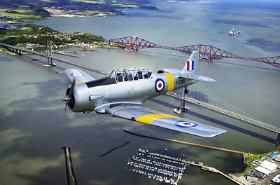 ww2 fighter over the forth bridges