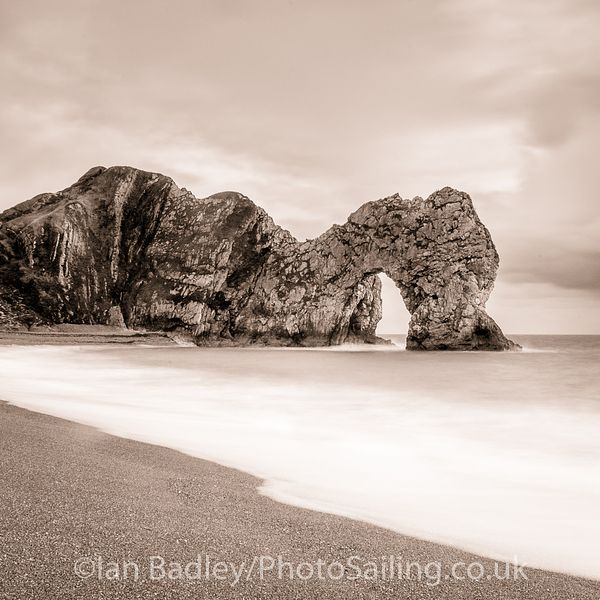 Durdle Door, long exposure. BW