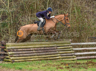 Beanie Sturgis jumping a fence at Thorpe Satchville. The Beaufort Hunt visit the Quorn at Cream Gorse 13/1
