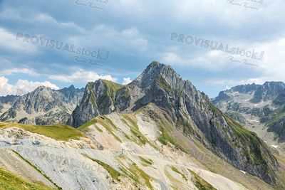 Landscape in Pyrenees Mountains