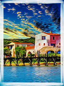 abstract, airbrush, art, cala de volpe, hotel, italy, luxury, painting, sardinia, superyachts