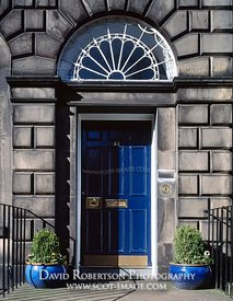 Image - Blue Door, Fanlight, New Town, Edinburgh