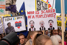 #124570,  Anti-Brexit march to Parliament Square, London, 23rd March 2019.  A million people of all ages marched demanding a ...