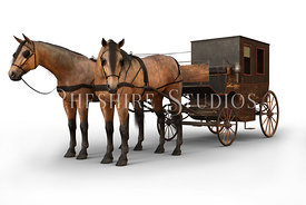 Victorian Horses and Carriage
