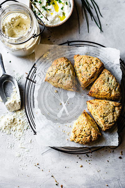 Herb and cheese scones.