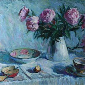 Still life with Roes by Lucy Corbett