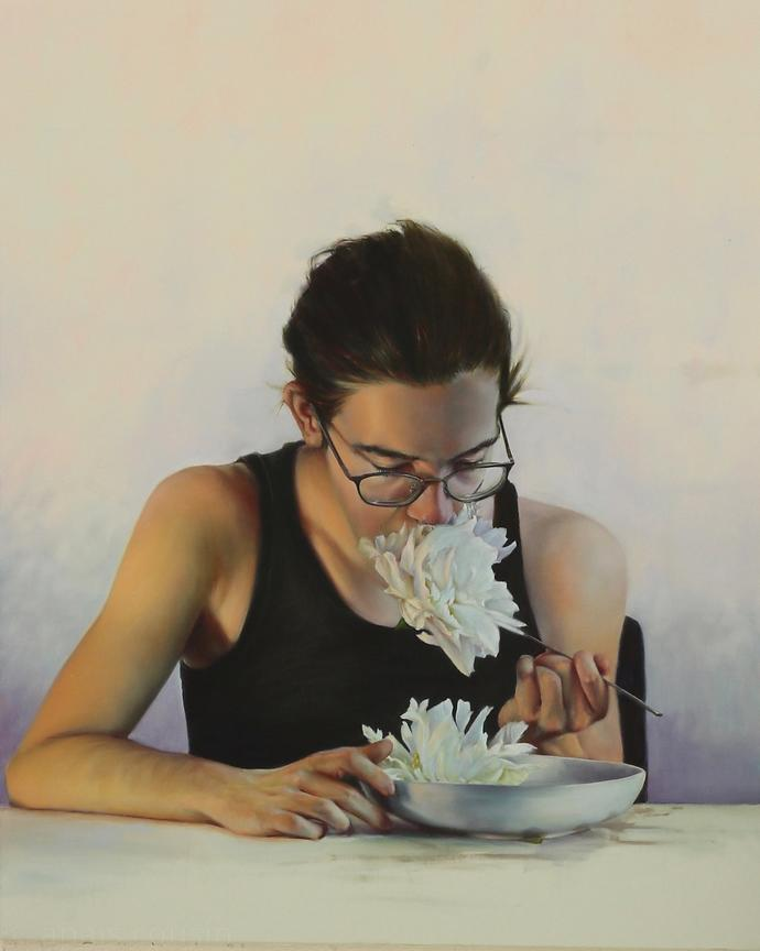 Nourritures terrestres, 120x95cm, 2018, Oil on canvas