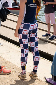 #124873,  Christ Church College crew member wearing the club leggings.  The 'Summer Eights', a week of rowing races for the O...