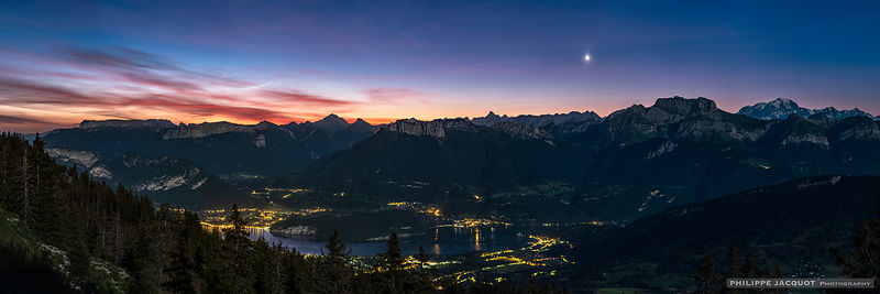 Venus and the comet - Annecy Semnoz