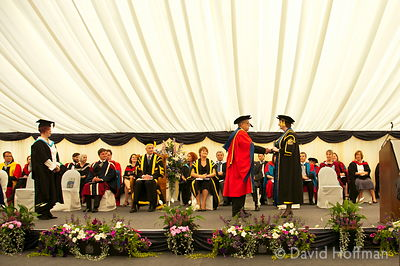 Gerry Gable receives an honorary doctorate at the University of Northampton. July 21, 2011