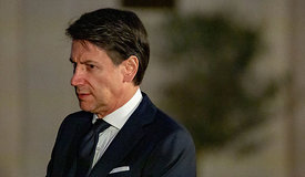 Italian Prime Minister Giuseppe Conte meets with Iraqi President Barham Salih, Rome, Italy, 24, Jan, 2020