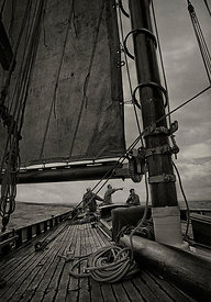 The pilot cutter 'Olga', sailing in the Bristol Channel. U.K.