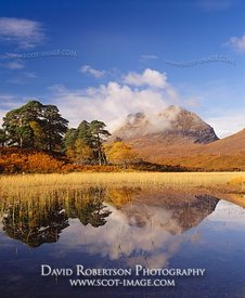 Image - Liathach reflected in Loch Clair, Torridon, Scotland