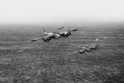 Mosquito fighter bombers over the North Sea BW version