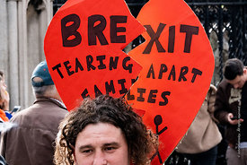 #124563,  Anti-Brexit march to Parliament Square, London, 23rd March 2019.  A million people of all ages marched demanding a ...