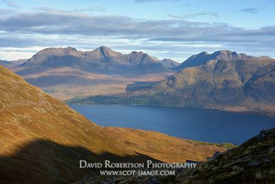 Image - Beinn Alligin and Liathach viewed from Beinn Damh, Torridon, Wester Ross, Highland, Scotland
