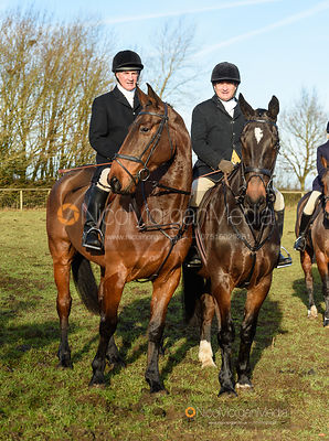 Mike Chatterton, Mark Chatterton at the meet. The Belvoir Hunt at Holwell 7/12