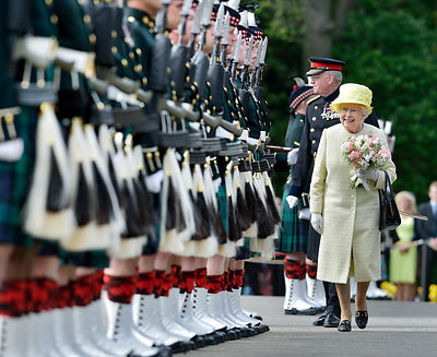 the Queen at Palace of Holyroodhouse
