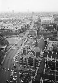 #124534,  View of the Houses of Parliament and Parliament Square, from the Victoria Tower, Houses of Parliament, 1973.