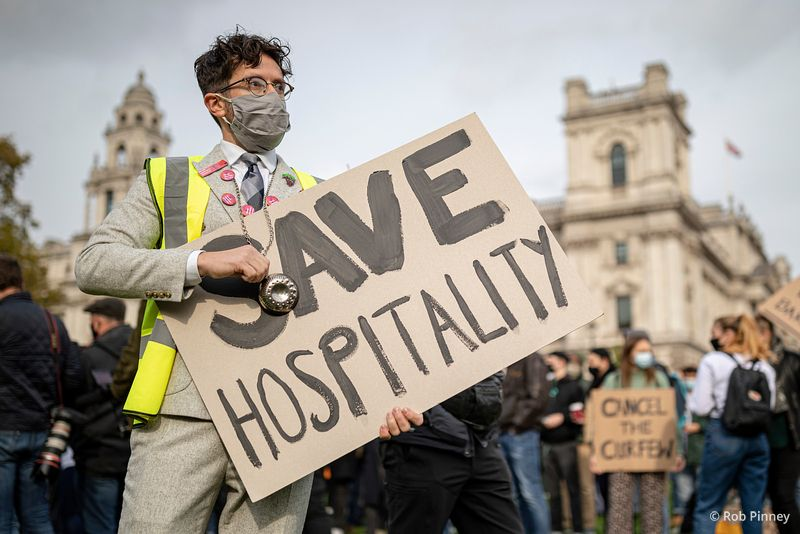 """HospoDemo"" protest against the impact of COVID-19 restrictions on the hospitality sector"