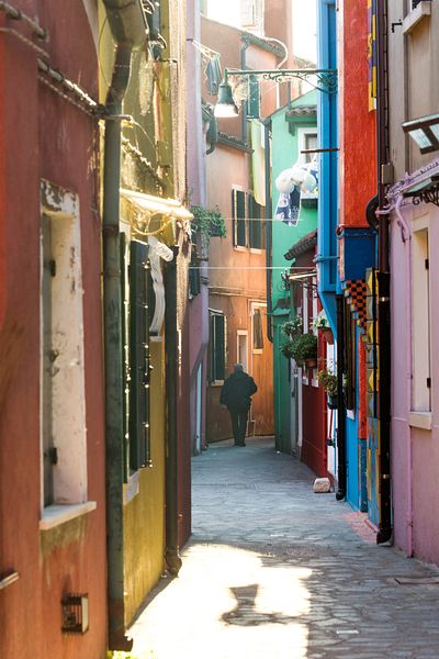street with colorful houses in Burano