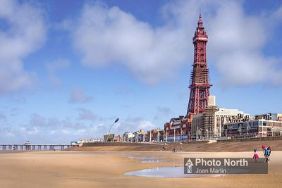 BLACKPOOL 09A - Central Beach and Blackpool Tower