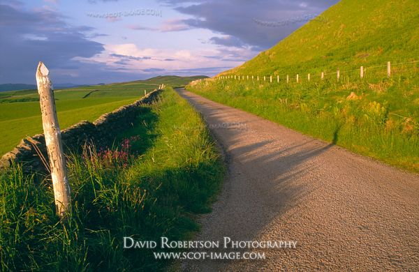 Image - A rural road near Machrihanish, Kintyre, Argyll, Scotland