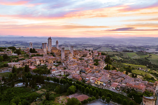 San Gimignano, a bird's eye view