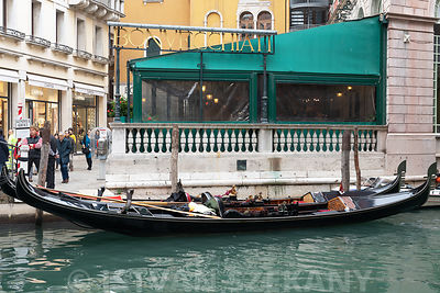 gondola in the historic center of Venice