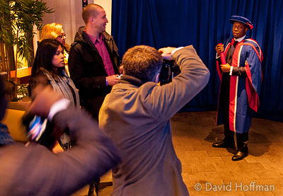 131121 UEL Hon Doc 061_1 Awards of Honorary Doctorates to David Hoffman and Dizzee Rascal by the University of East London at...