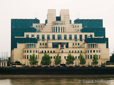 MI6 foreign intelligence agency headquarters on the south bank of the Thames at Vauxhall, London. raditional