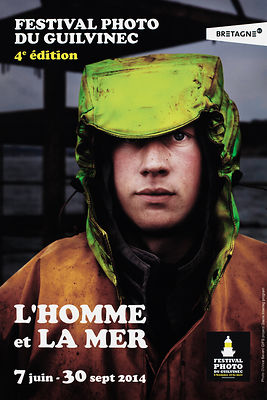 Poster for the 'L'HOMME et LA MER' PHOTO FESTIVAL.  Le Guilvinec, Brittany, France.