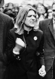 #057727,  Melina Mercouri leading a demonstration in London against the Greek Colonels.  1969.