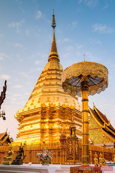 Golden chedi, Wat Phra That Doi Suthep, Chiang Mai, Thailand