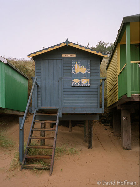 Traditional wooden beach huts at Wells Next The Sea in north Norfolk.