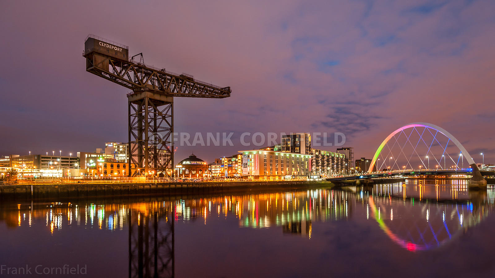 Finneston Crane and Clyde Arc bridge.